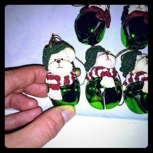 Boyds bears resin bell ornaments